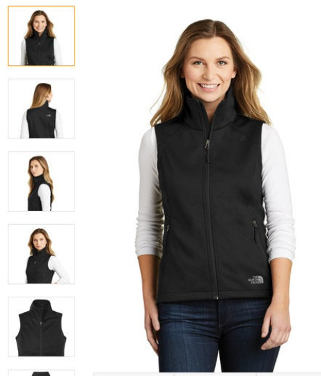 Custom Embroidery Ladies North Face Vest