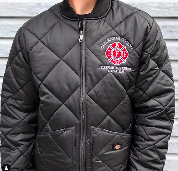 Maltese Firefighter Diamond Quilted Jacket
