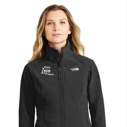 Custom Embroidered Women's North Face Jacket- Apex Soft Shell Jacket