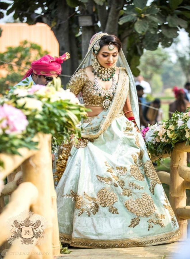 First-wedding-sabyasachi-lehenga