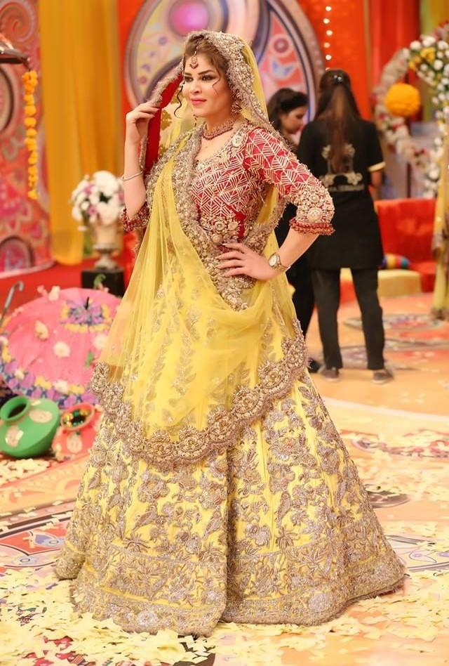 First-wedding-yellow-lehenga