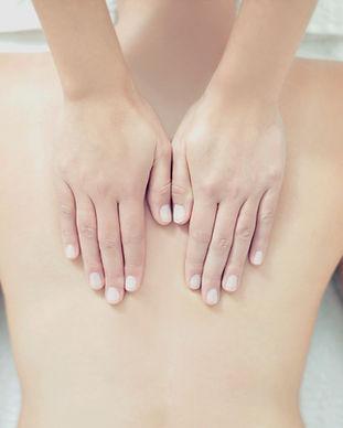 Massagem nas costas