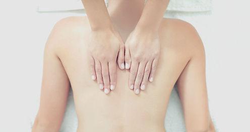 Back massage down the spine