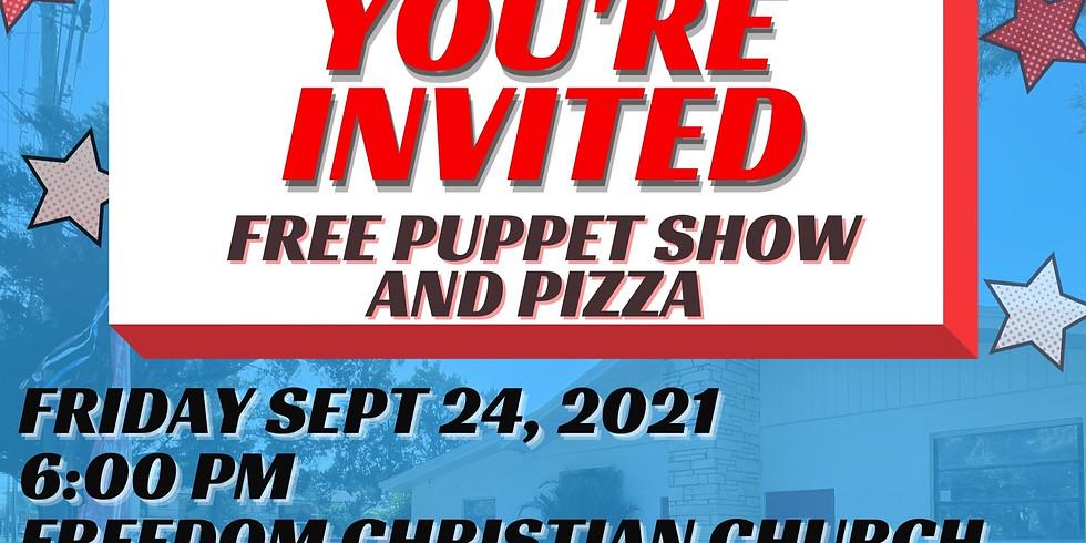 Kids Puppet Show & Pizza Night
