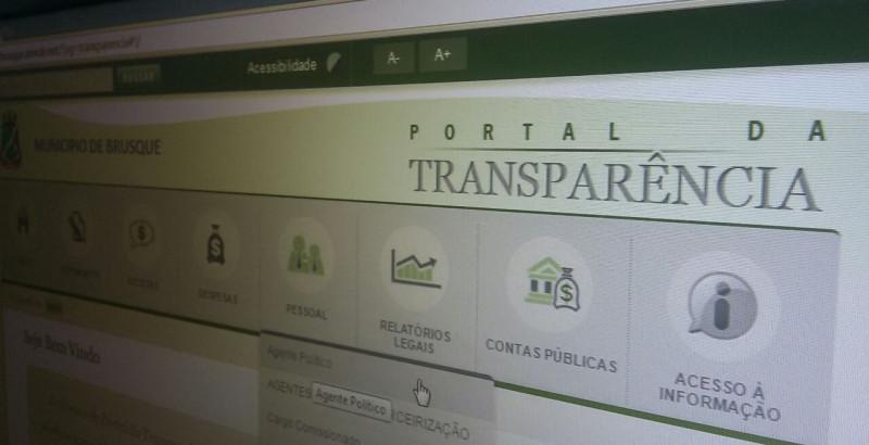 Portal da Transparência de Brusque apresenta dados errados