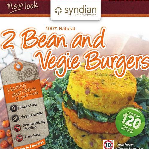 2 Bean & Veg Burgers