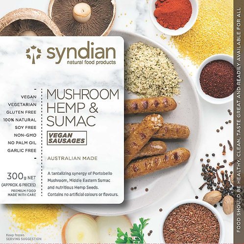 Mushroom Hemp and Sumac Sausages