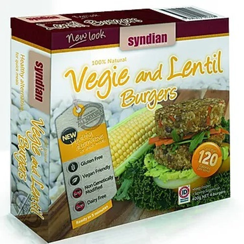 Veg & Lentil Burgers