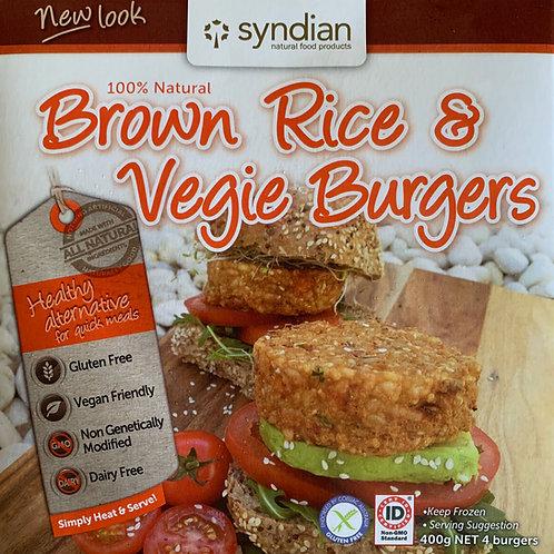 Brown Rice & Veg Burgers