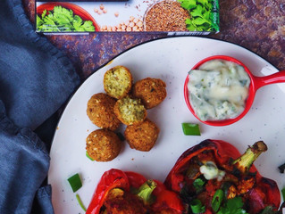 FALAFEL STUFFED CAPSICUMS - Guest Post by @sydneyveganguide