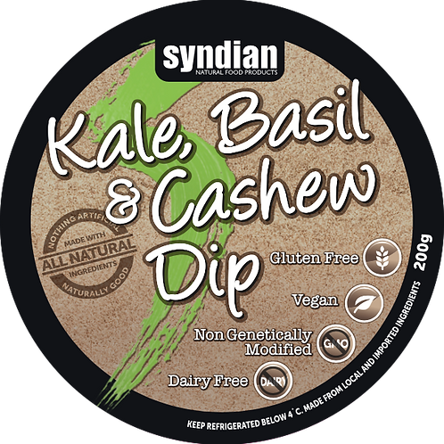 Kale Basil and Cashew Dip
