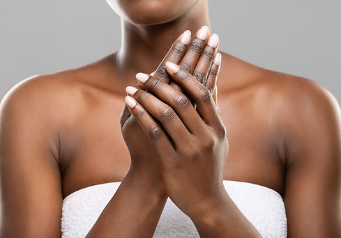 Skin nutrition concept. Unrecognizable a