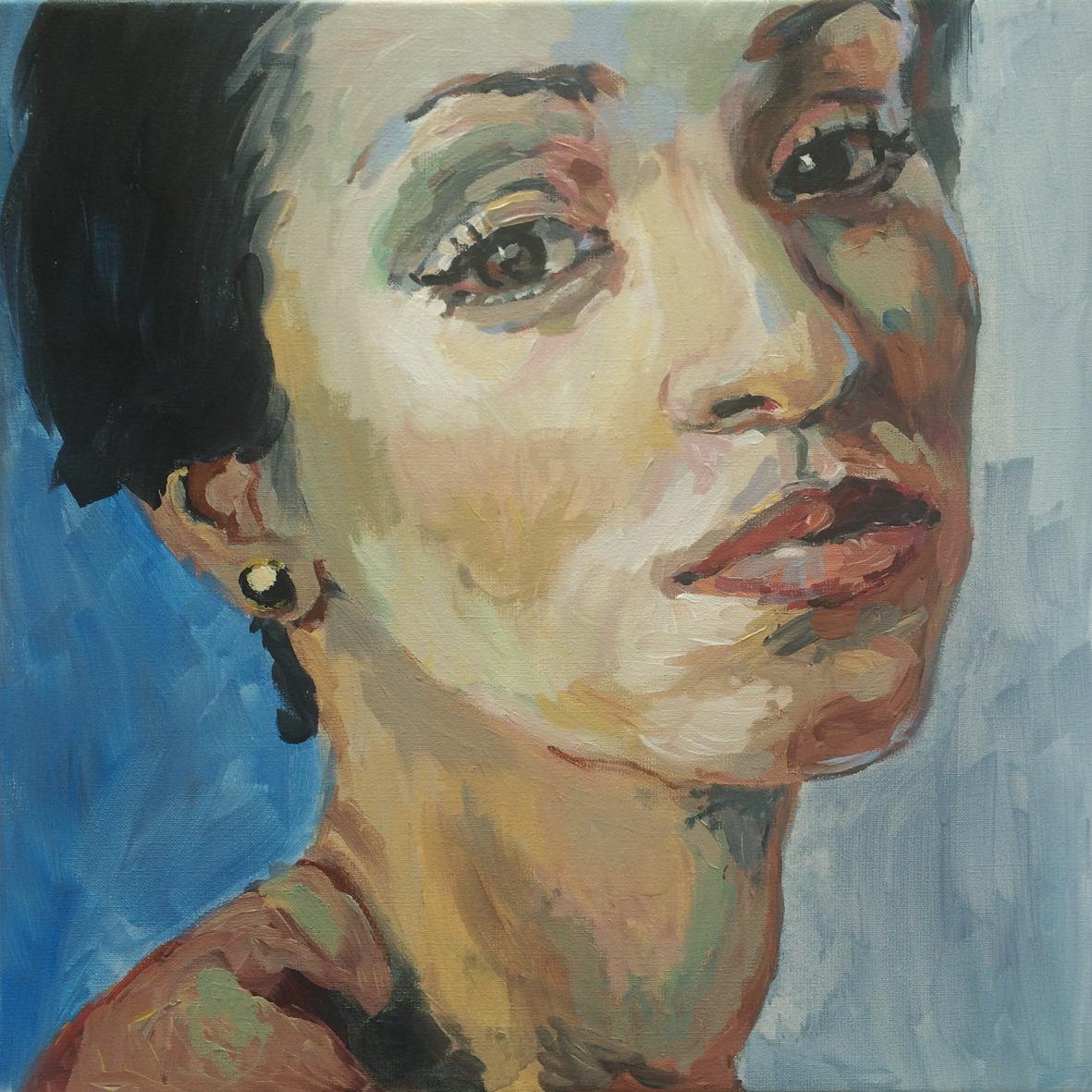 Portretschilderij Black Pearl