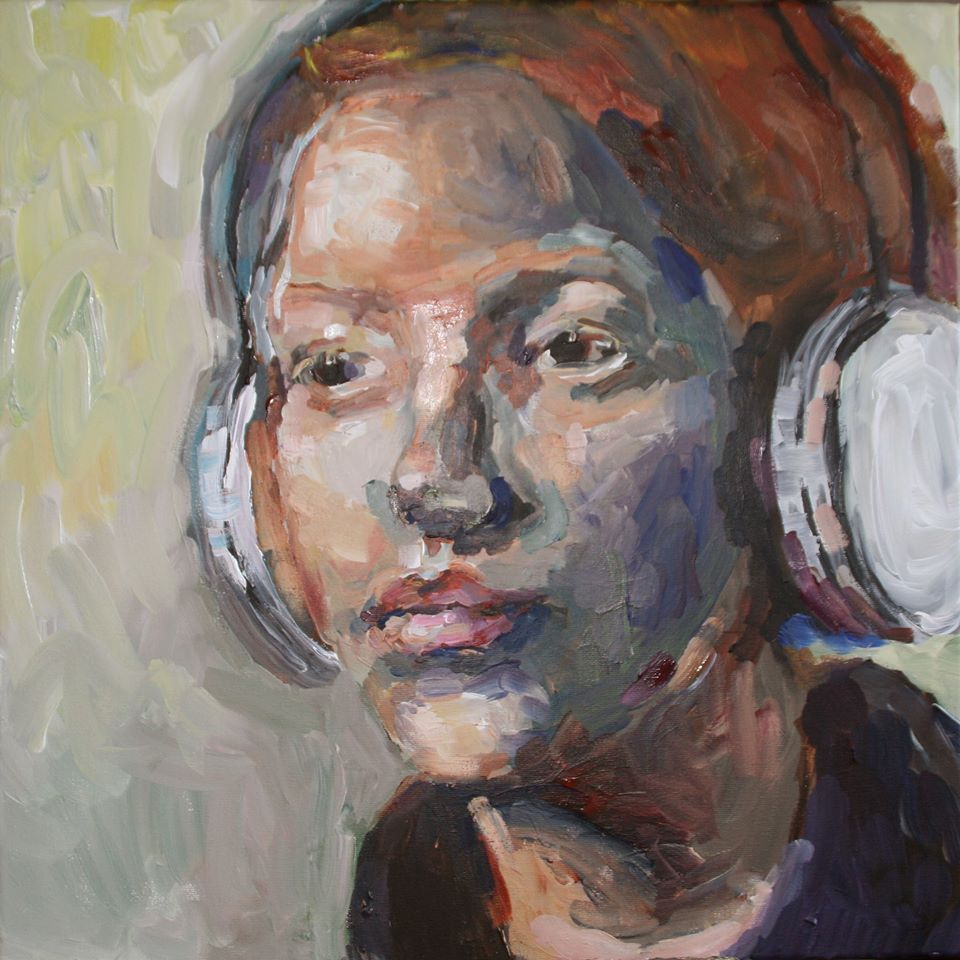 Schilderij Listen to the music