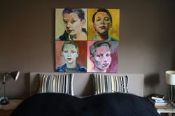 Portretten van Luc boven mijn bed
