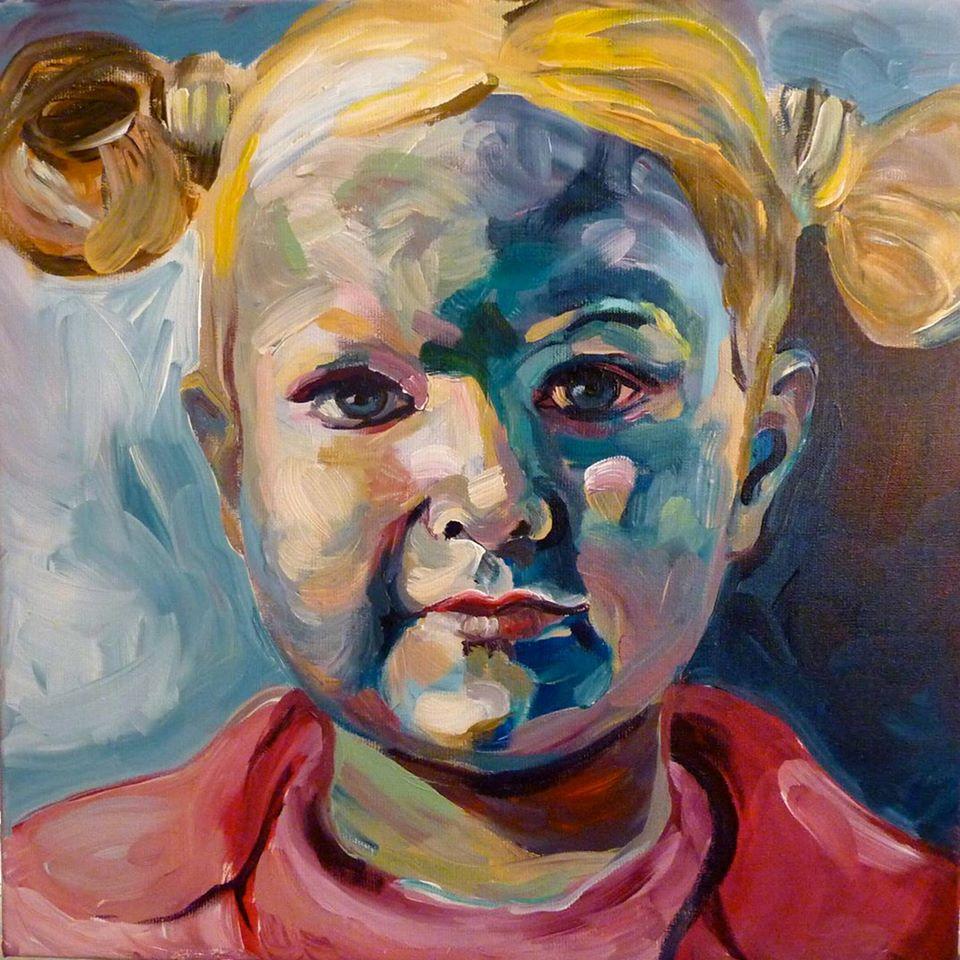 Portretschilderij Lotte