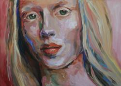 Schilderij White Eyelashes 2