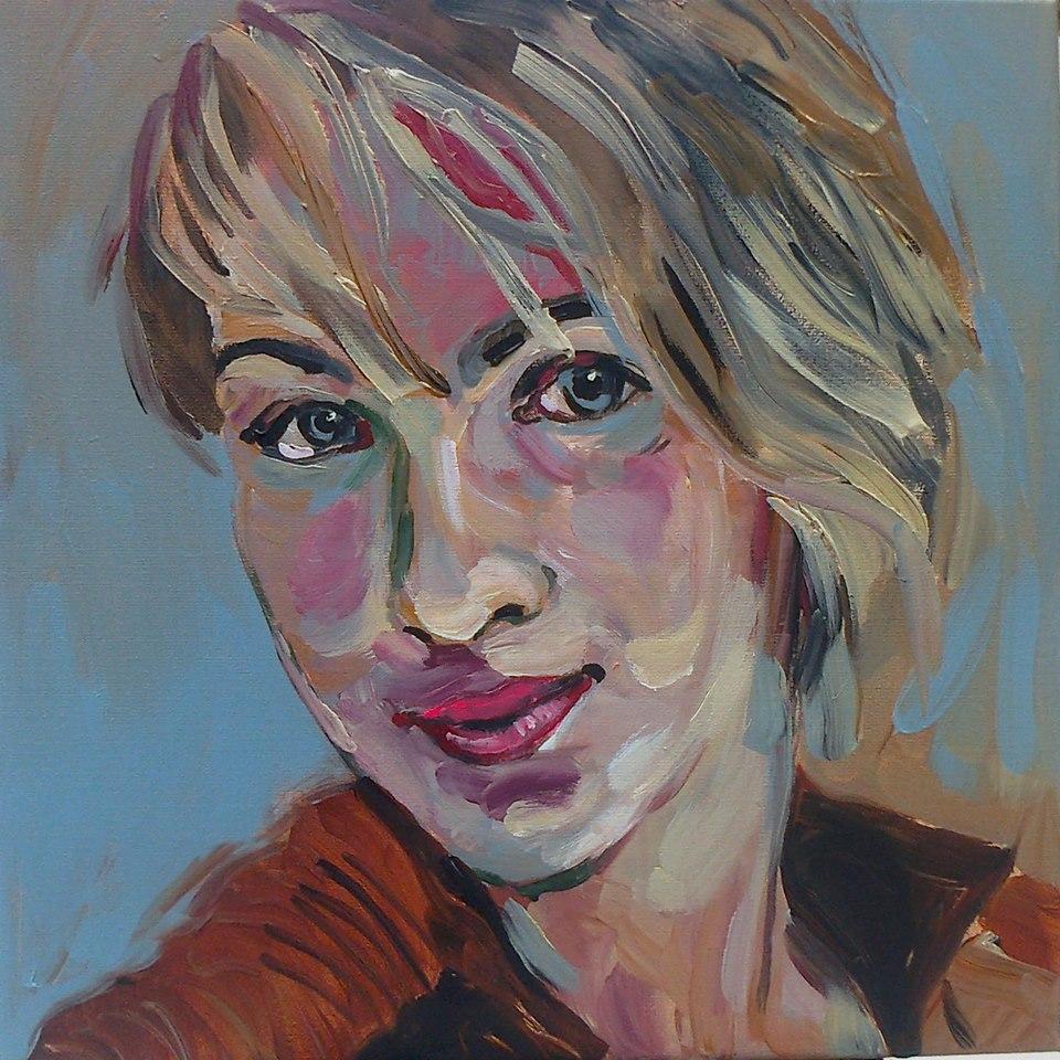 Portretschilderij Bernadet