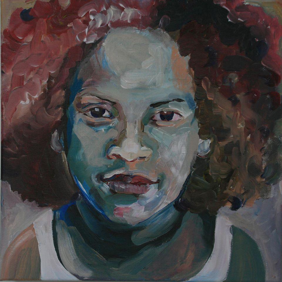 Portretschilderij Annelie