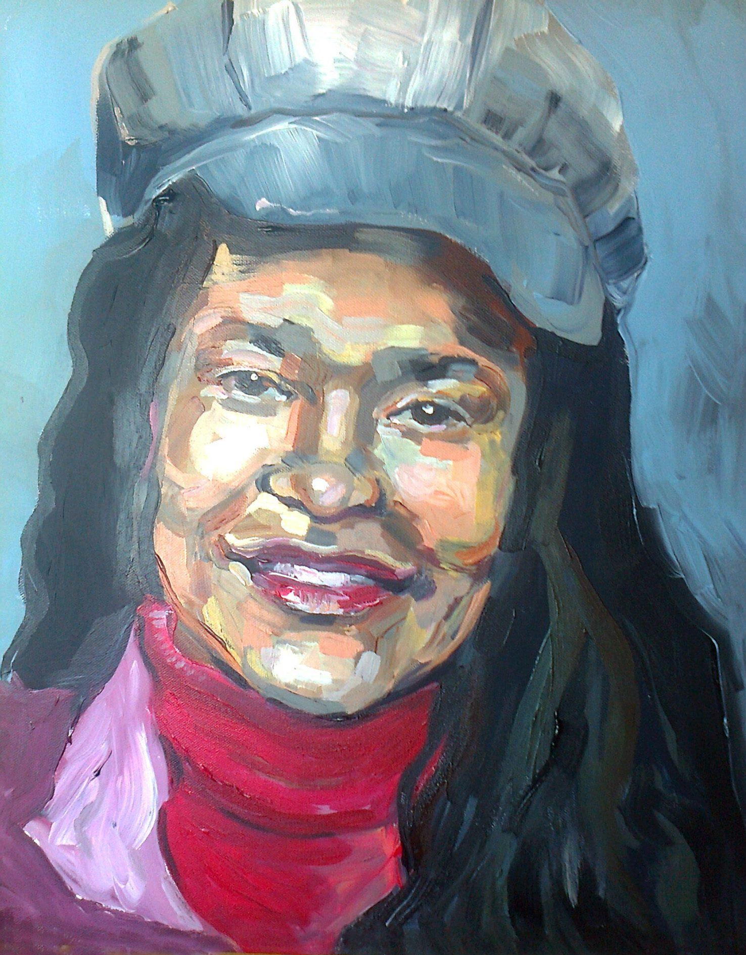 Portretschilderij Mercedes