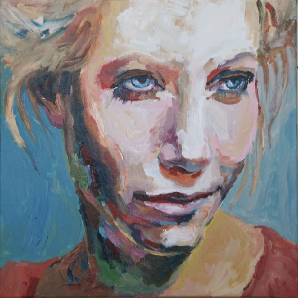 Schilderij Blue Eyes