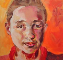 Portretschilderij Merel