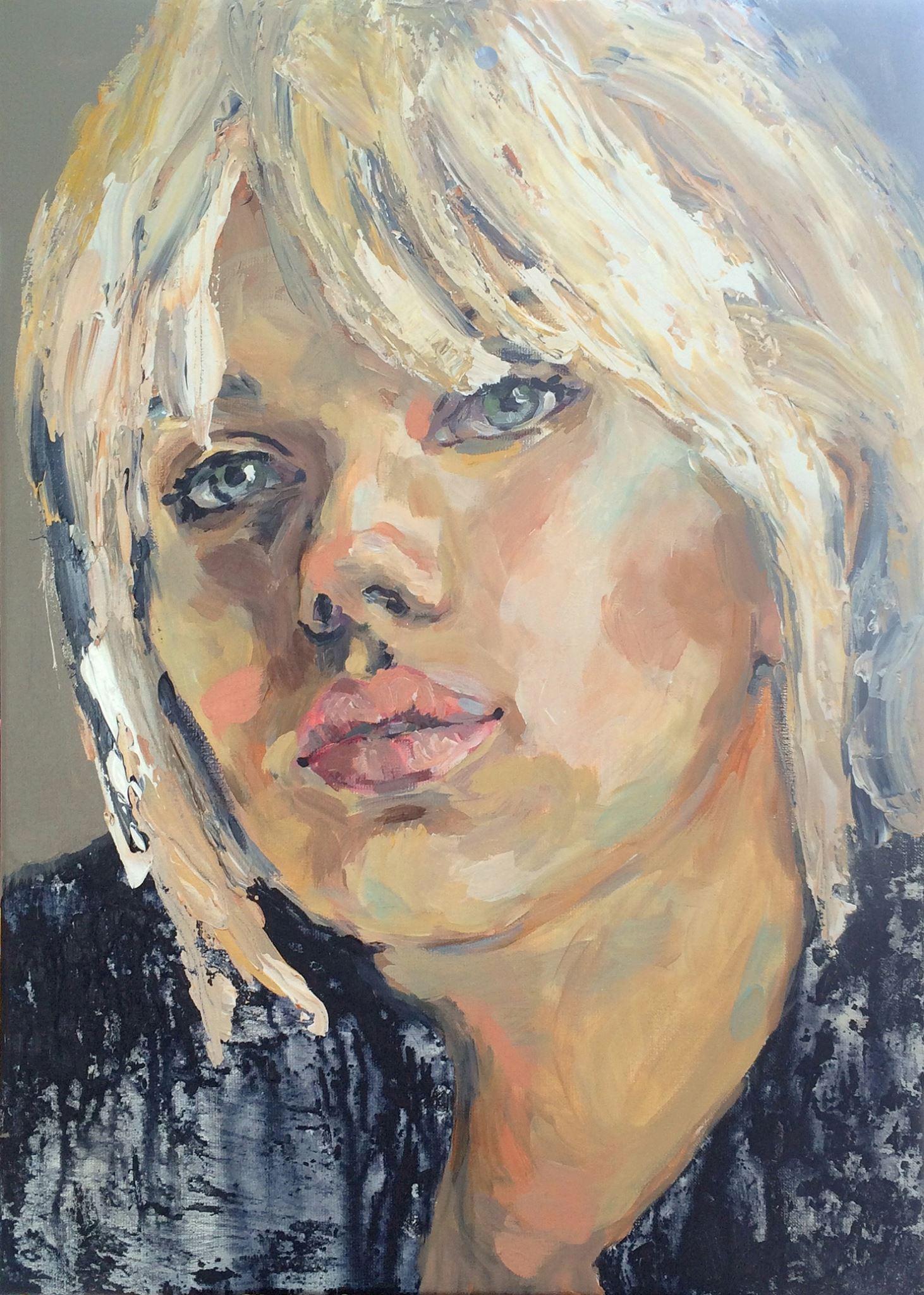 Portretschilderij Scarlett Johansson