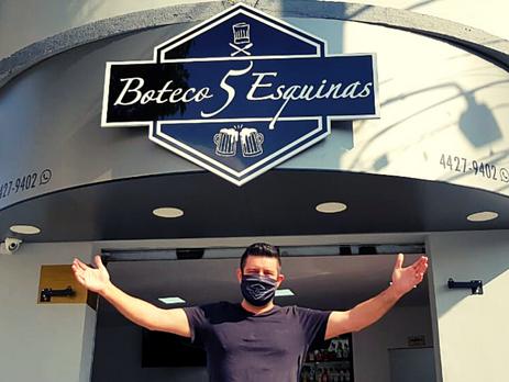Empresário andreense celebra um ano de inauguração do Boteco 5 Esquinas