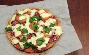 Receita de Pizza com massa de Couve-flor para o final de semana