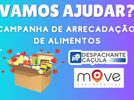 Despachante Caçula realiza campanha de arrecadação de alimentos