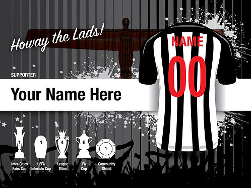 "Framed Newcastle United Fan Print 7""x 5"""