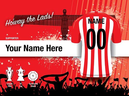 """Framed Sunderland Fan Print 7""""x 5"""""""