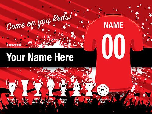 "Framed Manchester United Fan Print 7""x 5"""