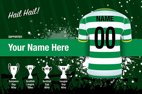 """Framed Celtic Fan Print 7""""x 5""""C"""