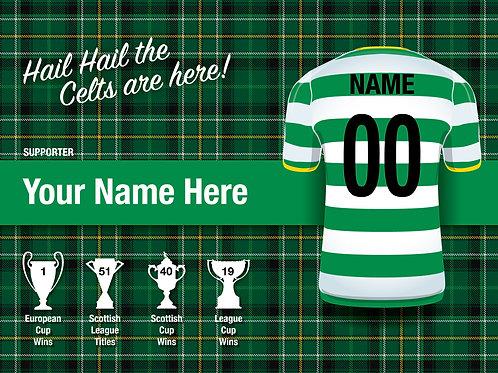 """Framed Celtic Fan Print 7""""x 5"""" B"""