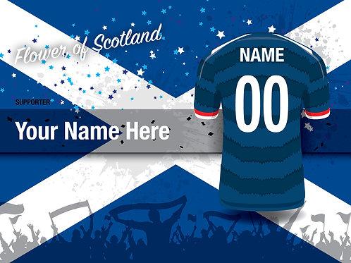 """Framed Scotland Fan Print 7""""x 5"""""""