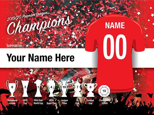"Framed Liverpool Fan Print 7""x 5"""