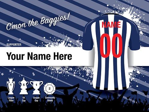 """Framed West Bromwich Albion Fan Print 7""""x 5"""""""