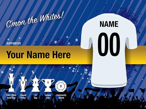 "Framed Leeds United Fan Print 7""x 5"""