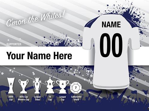 "Framed Tottenham Fan Print 7""x 5"""