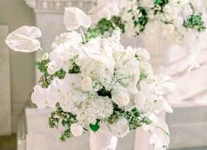 A WHITE WINTER WEDDING - AYNHOE PARK WEDDING FLORIST