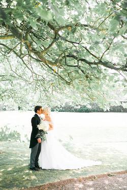 White & Grey English Tent Wedding