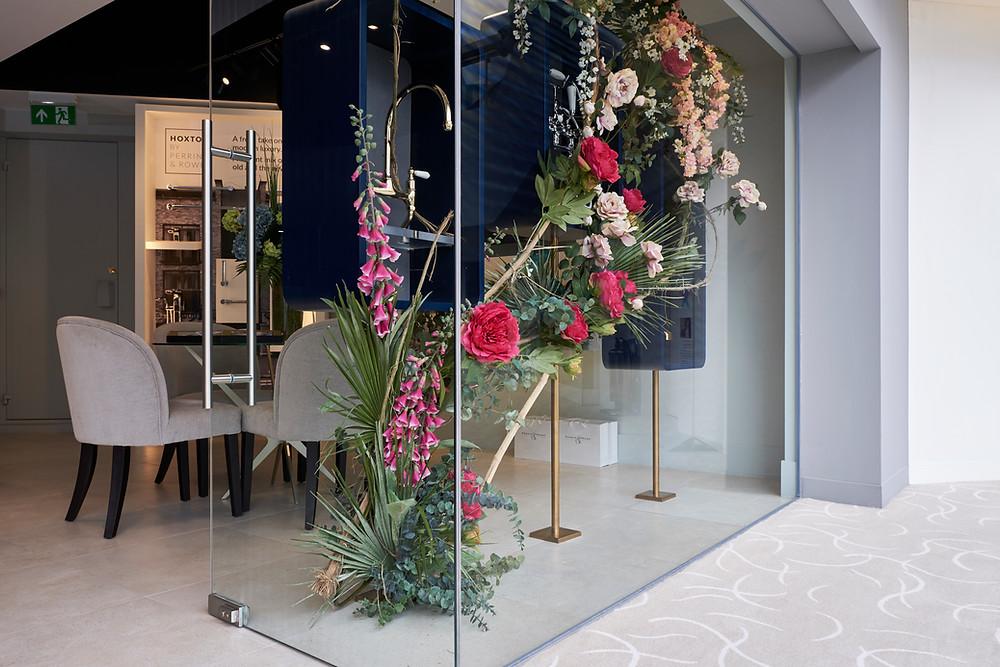 London Window Flower Floral Installation Studio Sorores