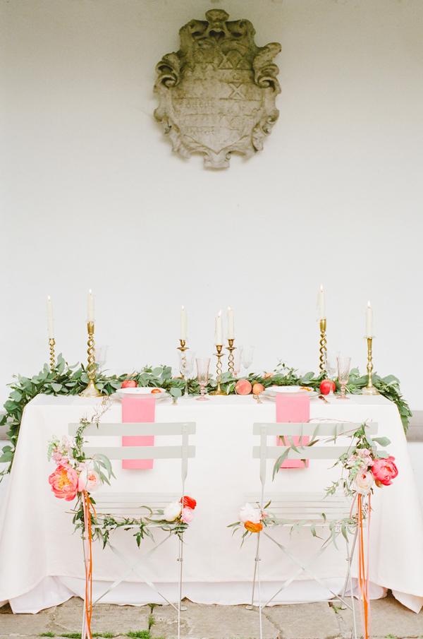 Coral & Peach Wedding Editorial
