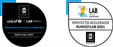 Badges Unicef Lab recibidas tras la aceleración de la startup