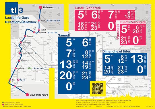 horaires bus transports lausannois