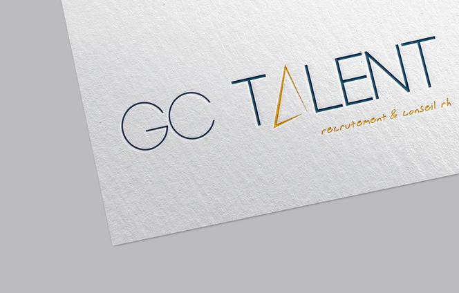 GC talent logo papier mockup