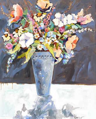 "Shadow Floral 30""x24"""