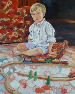 """Joe, Thomas & Friends"", oil 2012"