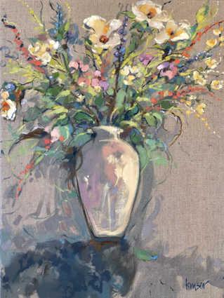 White Vase Memory.  Oil on Linen